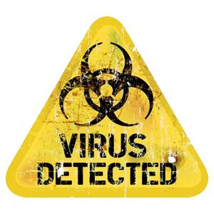 Achtung Virus Schild